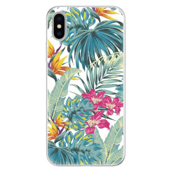 Silikonové pouzdro iSaprio - Tropical White 03 - iPhone X