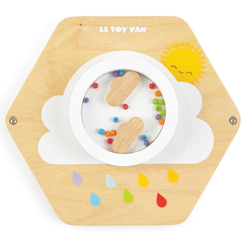 Le Toy Van Petilou hrací panel barevný déšť