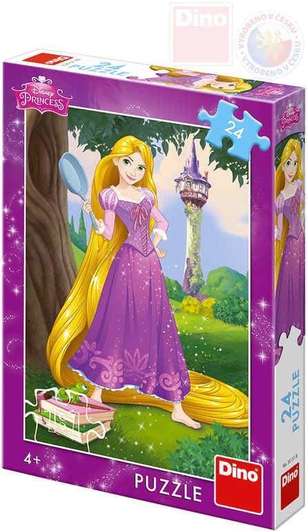 DINO Puzzle 24 dílků Disney Princezny Locika 18x26cm skládačka v krabici