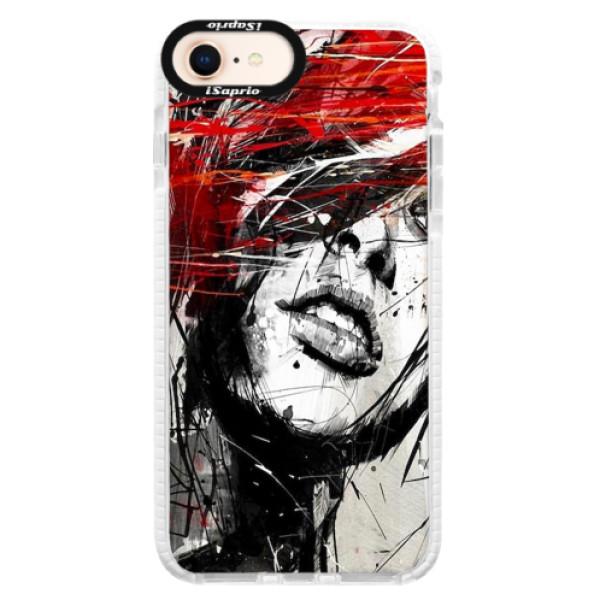 Silikonové pouzdro Bumper iSaprio - Sketch Face - iPhone 8