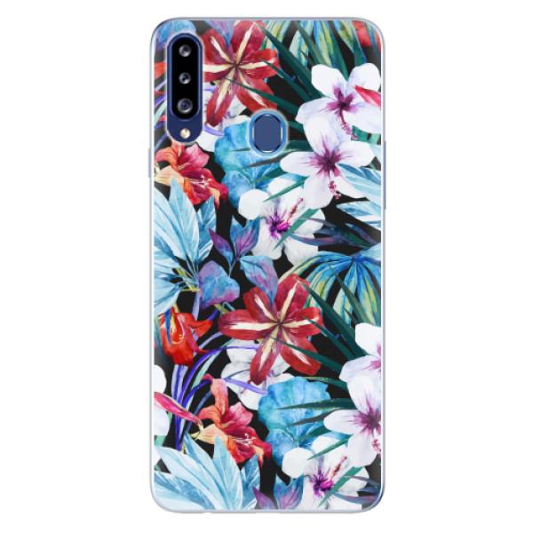 Odolné silikonové pouzdro iSaprio - Tropical Flowers 05 - Samsung Galaxy A20s