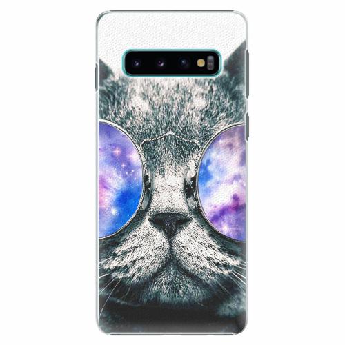Plastový kryt iSaprio - Galaxy Cat - Samsung Galaxy S10