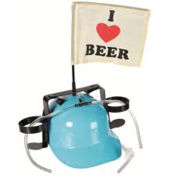 Pivní helma s vlajkou