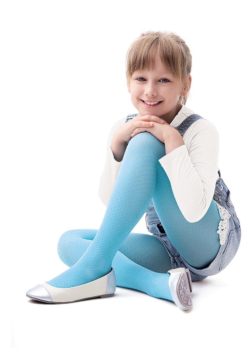 Dívčí punčochy Mini Mini - Noq Knittex - Modrá/140/146