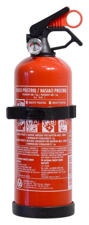 Hasicí přístroj práškový - 1 kg, (8A 34 B/C) ABC