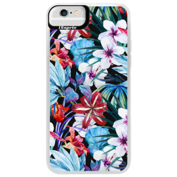 Neonové pouzdro Blue iSaprio - Tropical Flowers 05 - iPhone 6 Plus/6S Plus