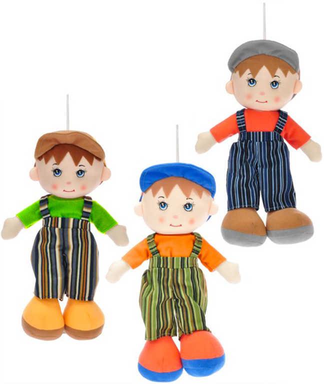 Baby panáček hadrový s čepičkou 35cm textilní panenka chlapeček