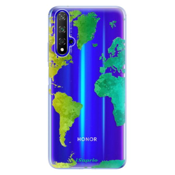 Odolné silikonové pouzdro iSaprio - Cold Map - Huawei Honor 20