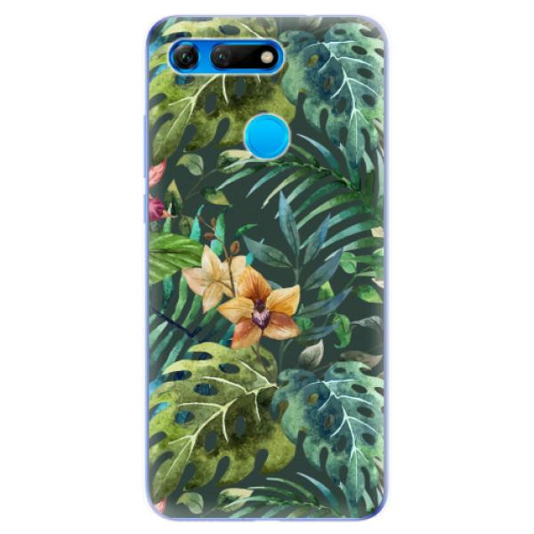 Odolné silikonové pouzdro iSaprio - Tropical Green 02 - Huawei Honor View 20