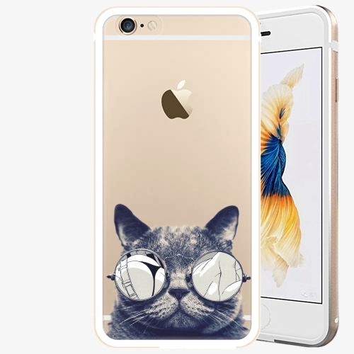 Plastový kryt iSaprio - Crazy Cat 01 - iPhone 6 Plus/6S Plus - Gold