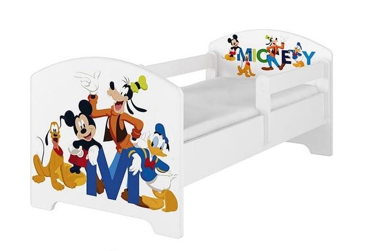 BabyBoo Dětská postel 140 x 70cm Disney - Mickey Friends, bílá - 140x70