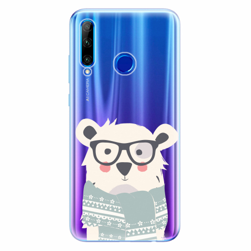 Silikonové pouzdro iSaprio - Bear with Scarf - Huawei Honor 20 Lite