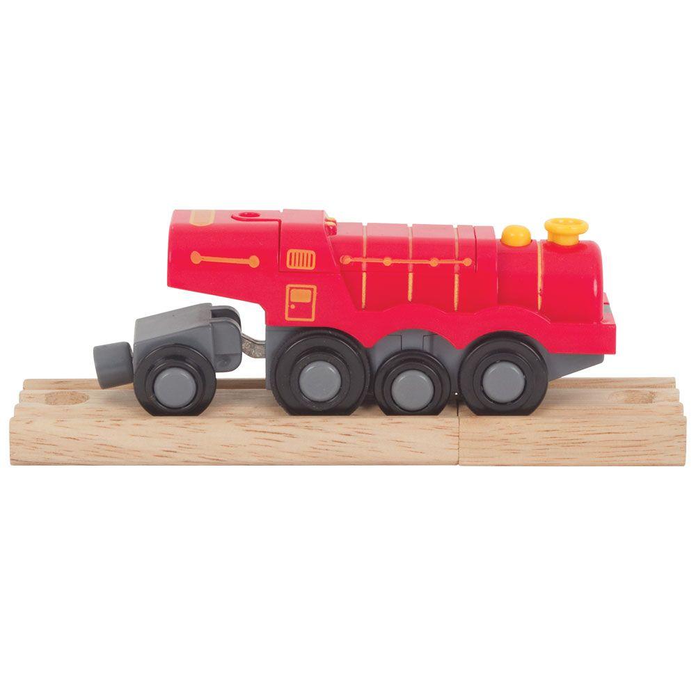 Bigjigs Rail Elektrická lokomotiva Flying Scotsman červená