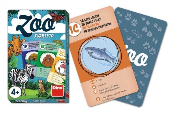 Kvarteto ZOO společenská hra karty 32 ks v krabičce