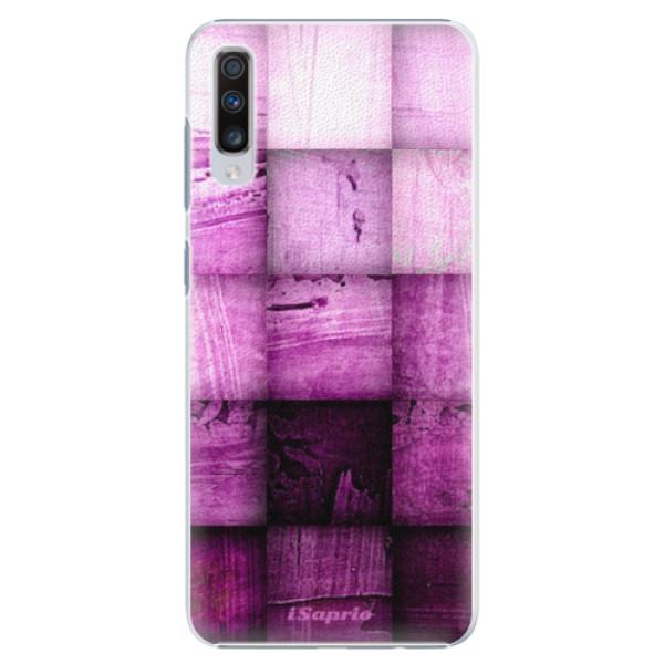 Plastové pouzdro iSaprio - Purple Squares - Samsung Galaxy A70