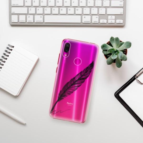 Plastové pouzdro iSaprio - Writing By Feather - black - Xiaomi Redmi Note 7