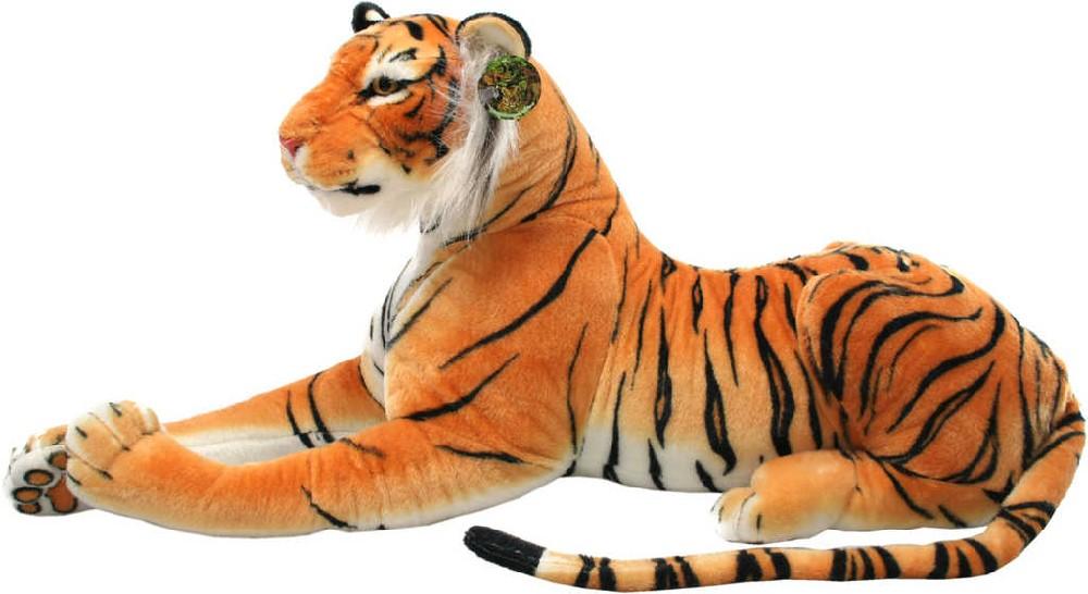 PLYŠ Tygr hnědý ležící 100cm *PLYŠOVÉ HRAČKY*