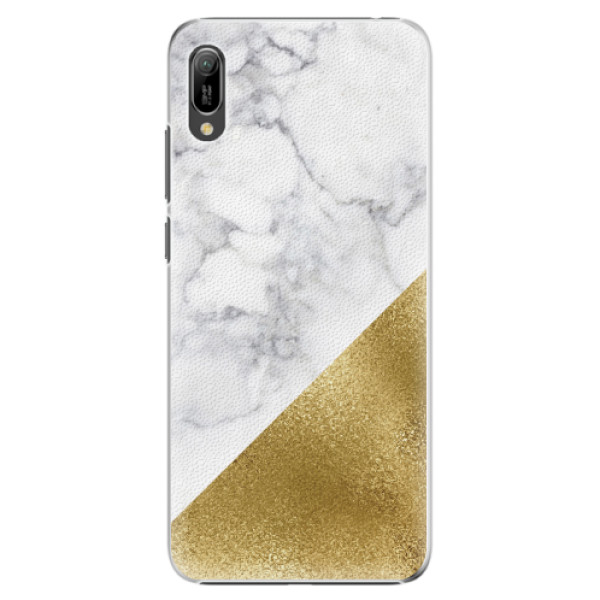 Plastové pouzdro iSaprio - Gold and WH Marble - Huawei Y6 2019