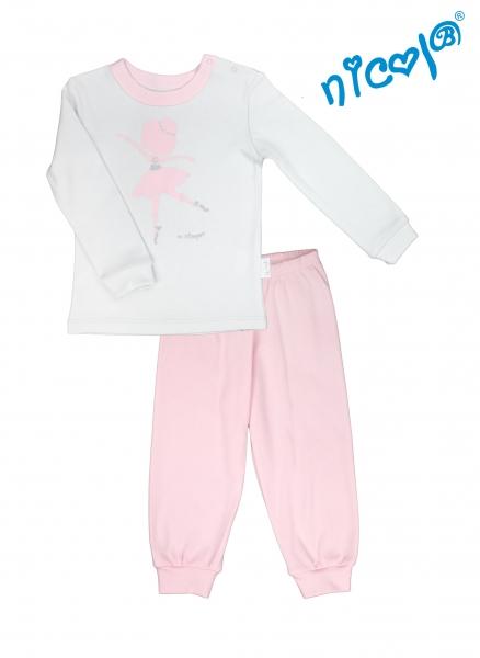 Dětské pyžamo Nicol, Baletka - šedo/růžové, vel.