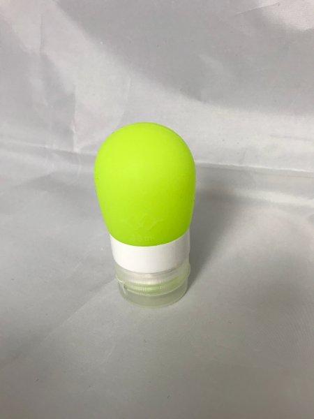 Cestovní silikonová lahvička na tekutiny - Zelená - 38 ml