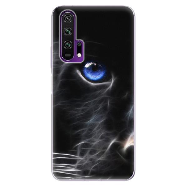 Odolné silikonové pouzdro iSaprio - Black Puma - Honor 20 Pro