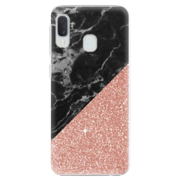 Plastové pouzdro iSaprio - Rose and Black Marble - Samsung Galaxy A20e