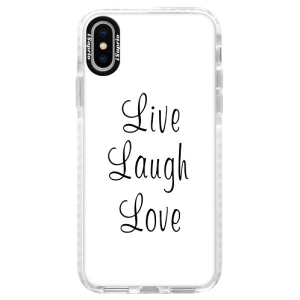 Silikonové pouzdro Bumper iSaprio - Live Laugh Love - iPhone X
