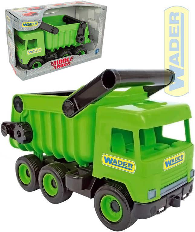 WADER Auto nákladní Middle Truck sklápěč 36cm zelený plast 32101