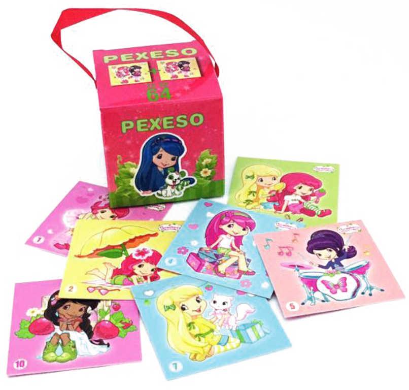 AKIM Hra Pexeso v krabičce se stuhou Jahůdka Strawberry Shortcake set 64 karet