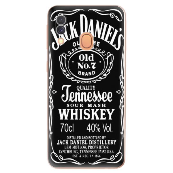 Odolné silikonové pouzdro iSaprio - Jack Daniels - Samsung Galaxy A40
