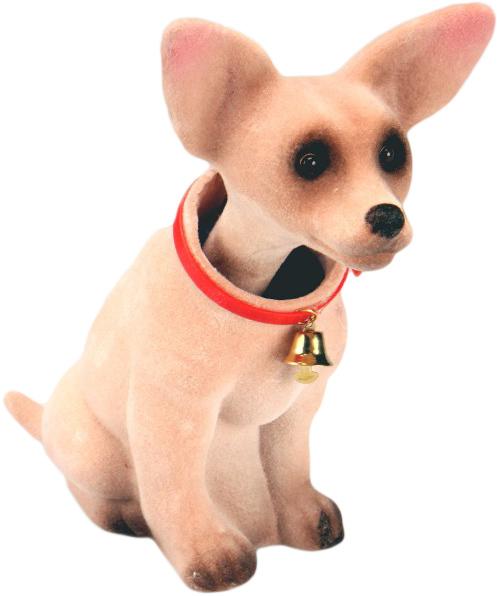 Pes s kývací hlavou Chivava 20cm dekorace plast