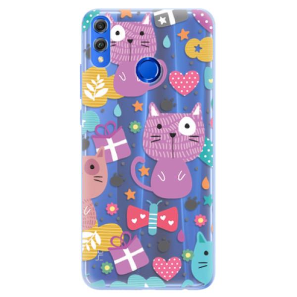 Silikonové pouzdro iSaprio - Cat pattern 01 - Huawei Honor 8X