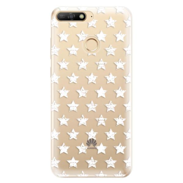 Odolné silikonové pouzdro iSaprio - Stars Pattern - white - Huawei Y6 Prime 2018