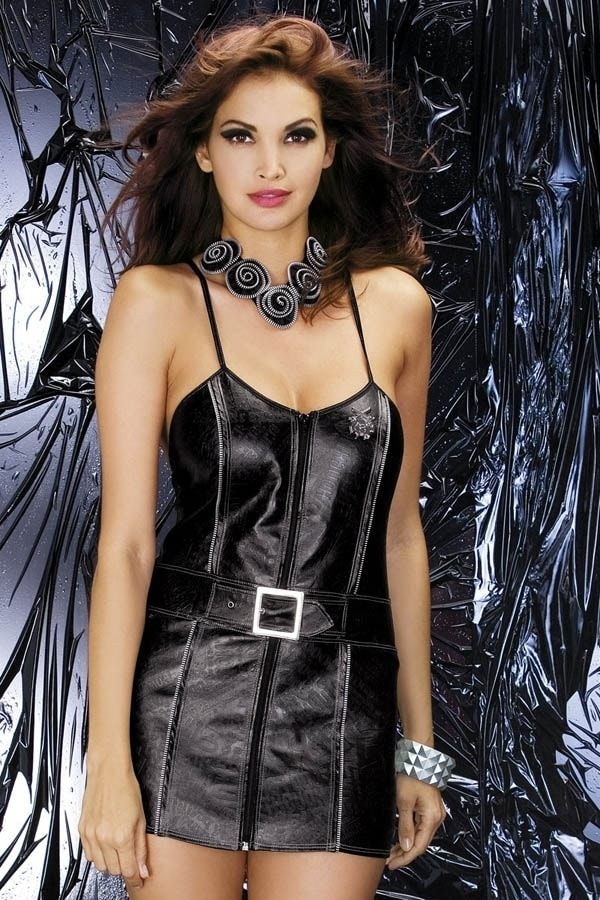 Sexy kostým Obsessive Biker dress - Černá - S/M
