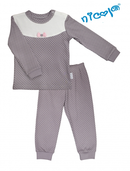 detske-pyzamo-nicol-paula-sedo-bile-vel-98-98-24-36m