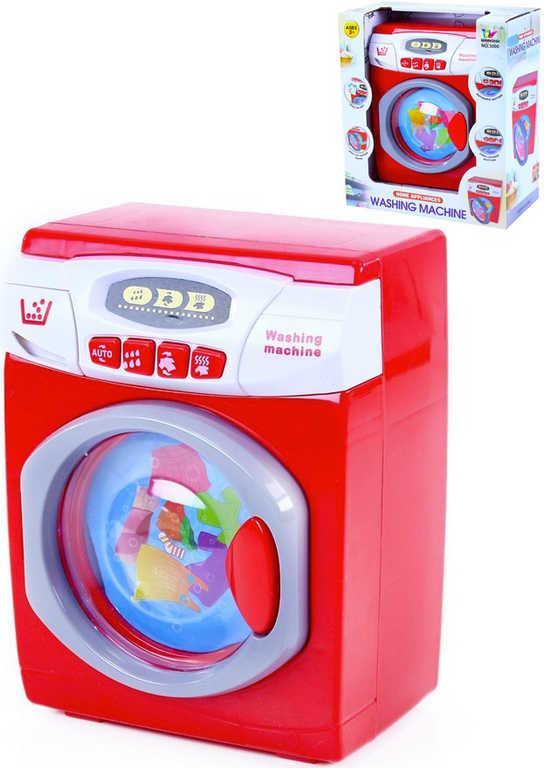 Pračka dětská červená 22 cm na baterie