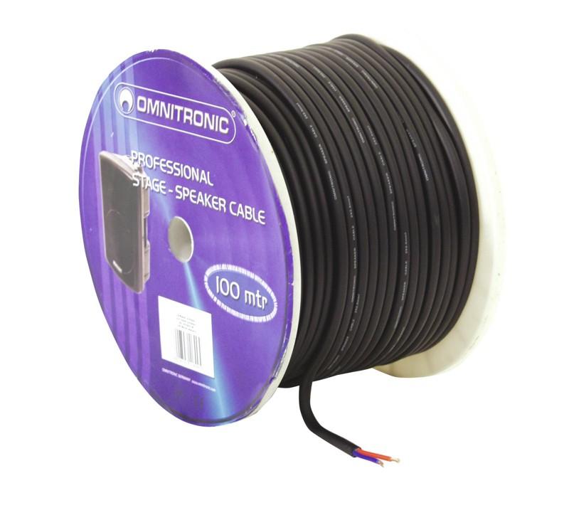 Kabel reproduktorový, 2x 2,5qmm, černý, cena / m