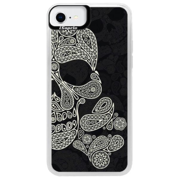 Neonové pouzdro Pink iSaprio - Mayan Skull - iPhone SE 2020