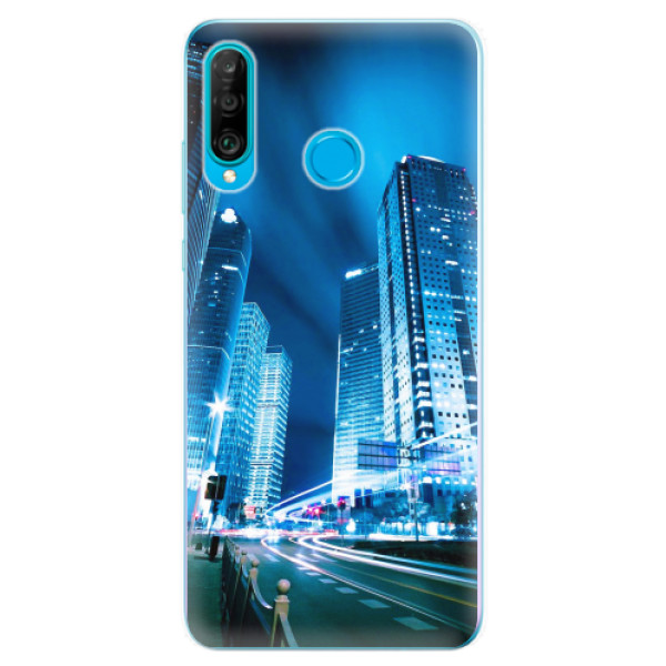 Odolné silikonové pouzdro iSaprio - Night City Blue - Huawei P30 Lite