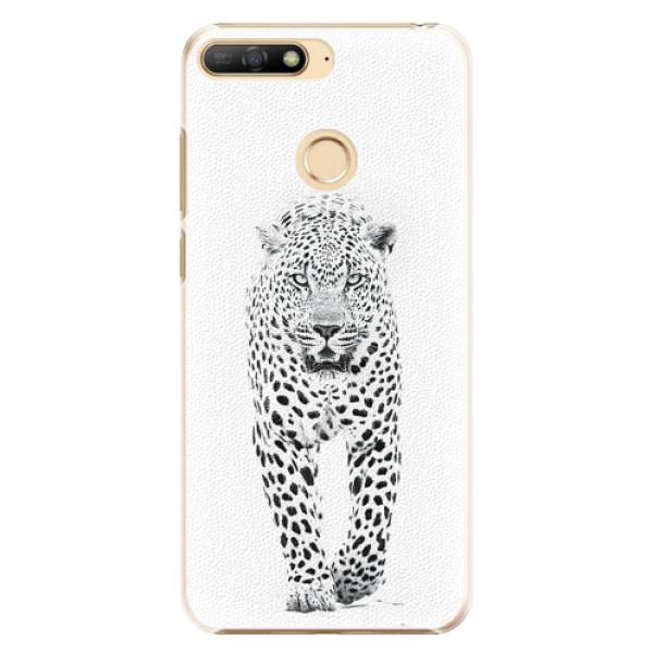 Plastové pouzdro iSaprio - White Jaguar - Huawei Y6 Prime 2018