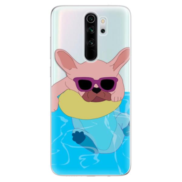 Odolné silikonové pouzdro iSaprio - Swimming Dog - Xiaomi Redmi Note 8 Pro