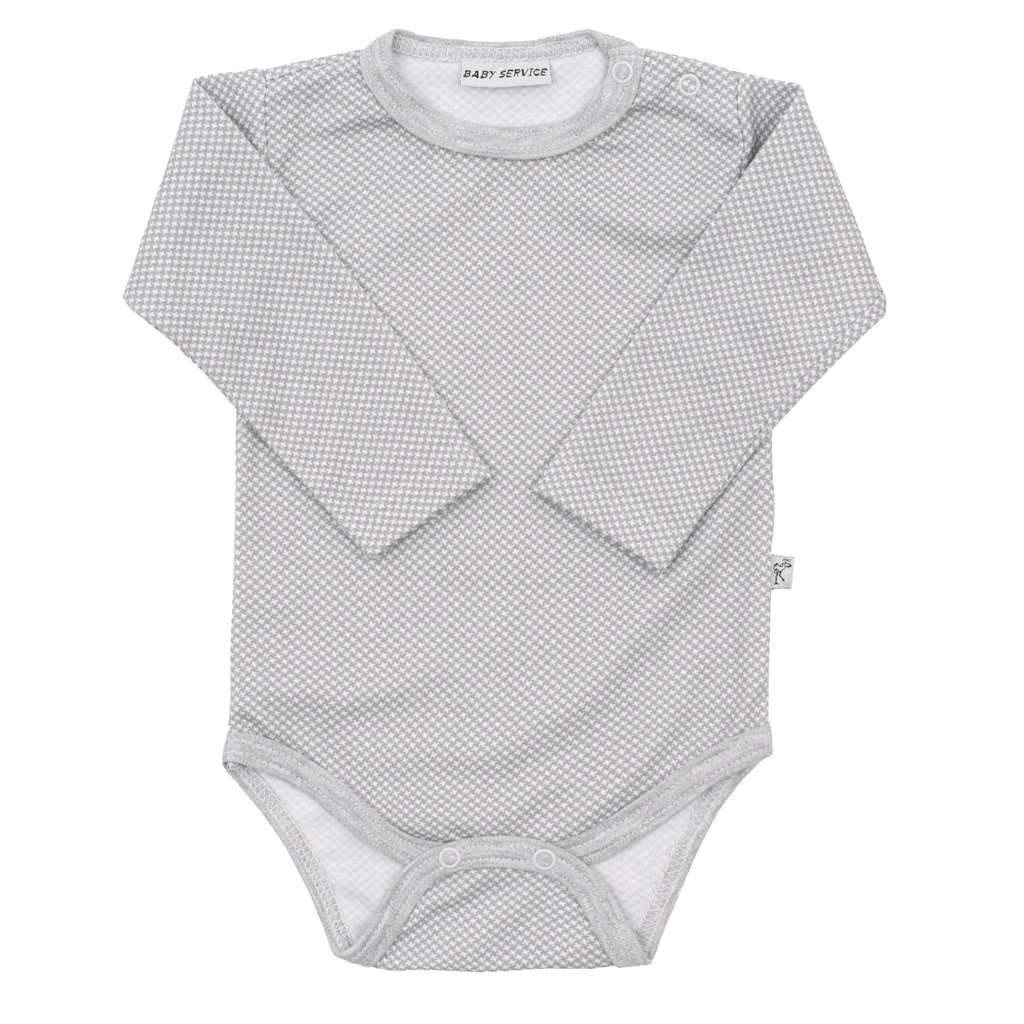 Kojenecké bavlněné body Baby Service Retro šedé - šedá/68 (4-6m)