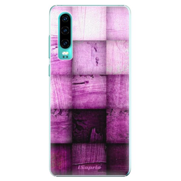 Plastové pouzdro iSaprio - Purple Squares - Huawei P30