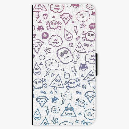 Flipové pouzdro iSaprio - Funny Clouds - Huawei P9 Lite Mini