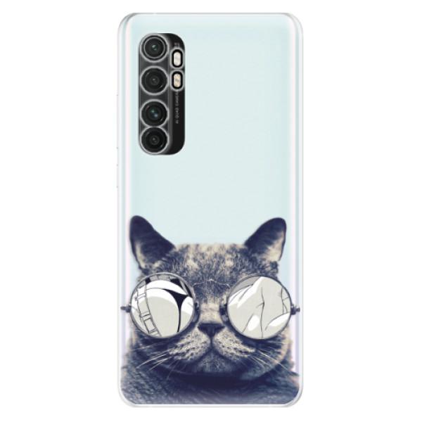 Odolné silikonové pouzdro iSaprio - Crazy Cat 01 - Xiaomi Mi Note 10 Lite
