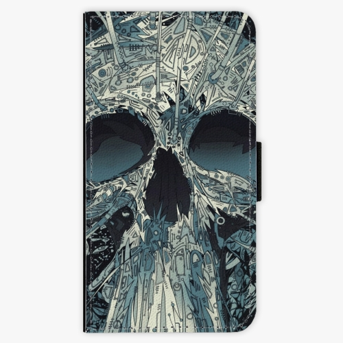 Flipové pouzdro iSaprio - Abstract Skull - Samsung Galaxy J7 2017