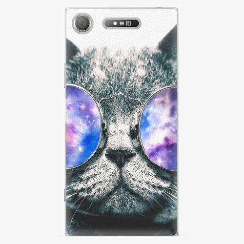 Plastový kryt iSaprio - Galaxy Cat - Sony Xperia XZ1