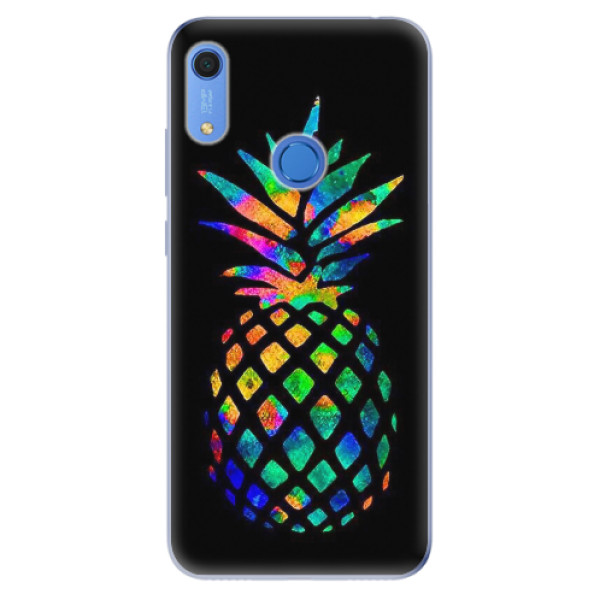 Odolné silikonové pouzdro iSaprio - Rainbow Pineapple - Huawei Y6s