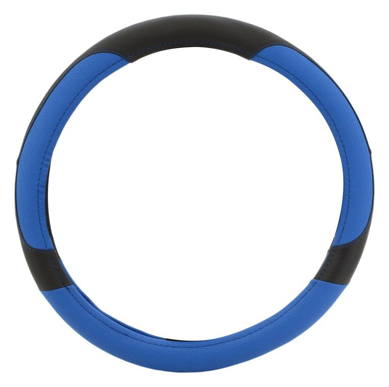 Potah volantu COLOR LINE - modrý/černý
