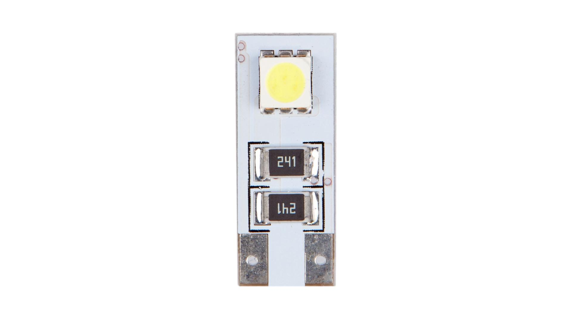 4CARS LED žárovka 2LED 12V CANBUS 5050SMD T10
